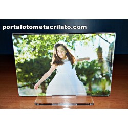 Portafoto Comunion doble o simple con peana Horizontal